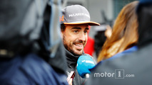 Fernando Alonso, McLaren, is interviewed