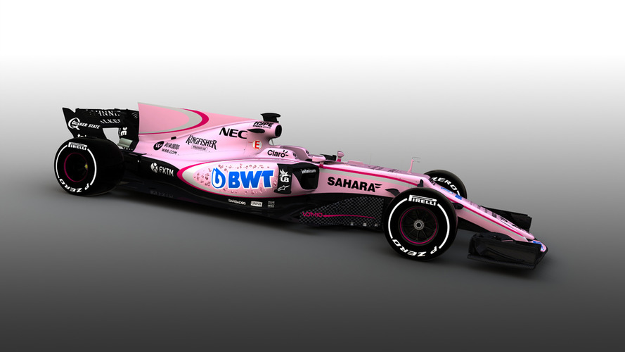 F1 2017: Force India reveals new pink color scheme