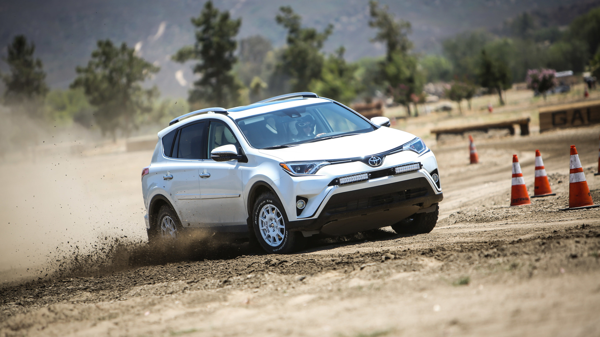 Getting dirty and sideways in a pair of rally ready toyota rav4s publicscrutiny Images