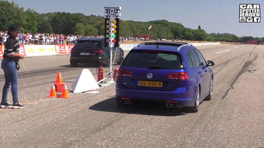 VW Golf R Drag Races The World