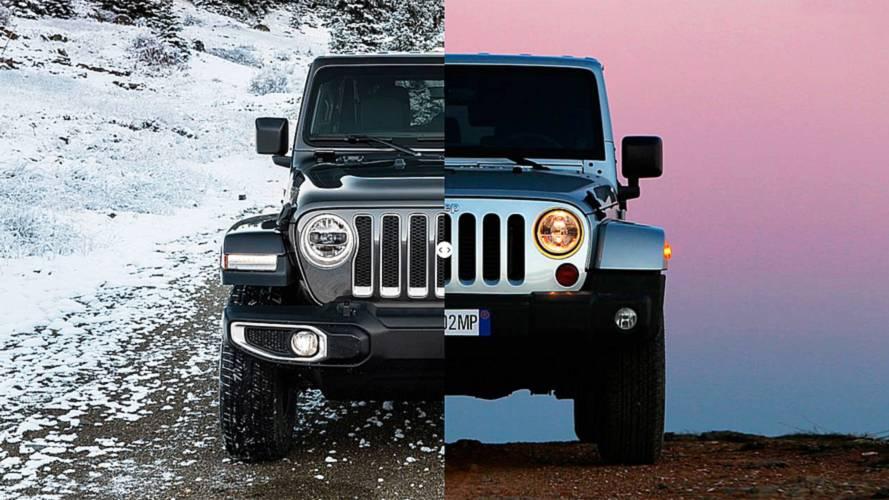Jeep Wrangler, nuova e vecchia a confronto