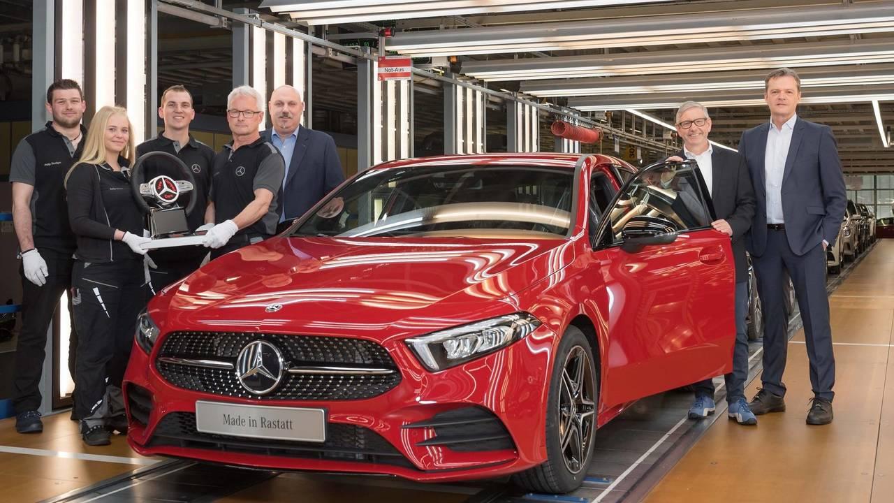 Mercedes-Benz A-Class production start