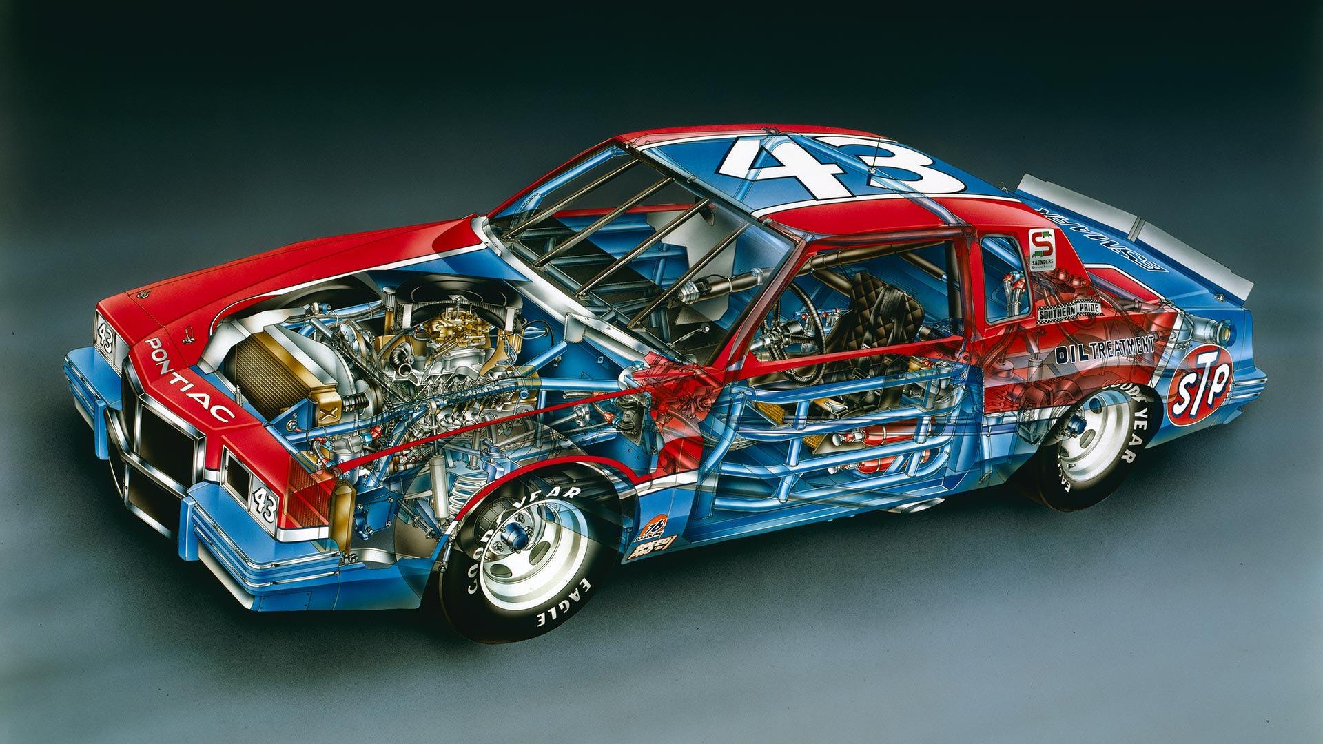 Kimble Cutaways: 1982 Richard Petty No. 43 Pontiac Grand Prix