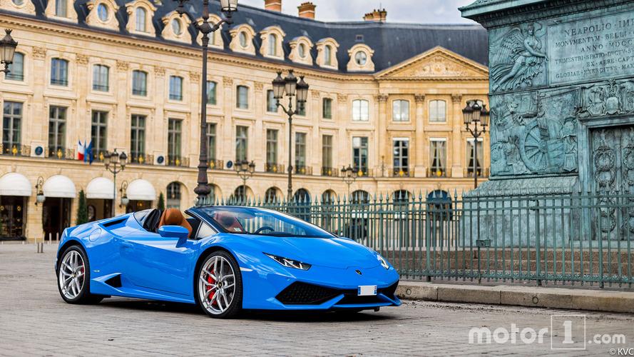 PHOTOS - Lamborghini Huracán Spyder et place Vendôme, un parfait duo !