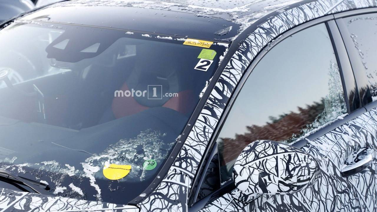 Mercedes A-Class plug-in hybrid spy photo