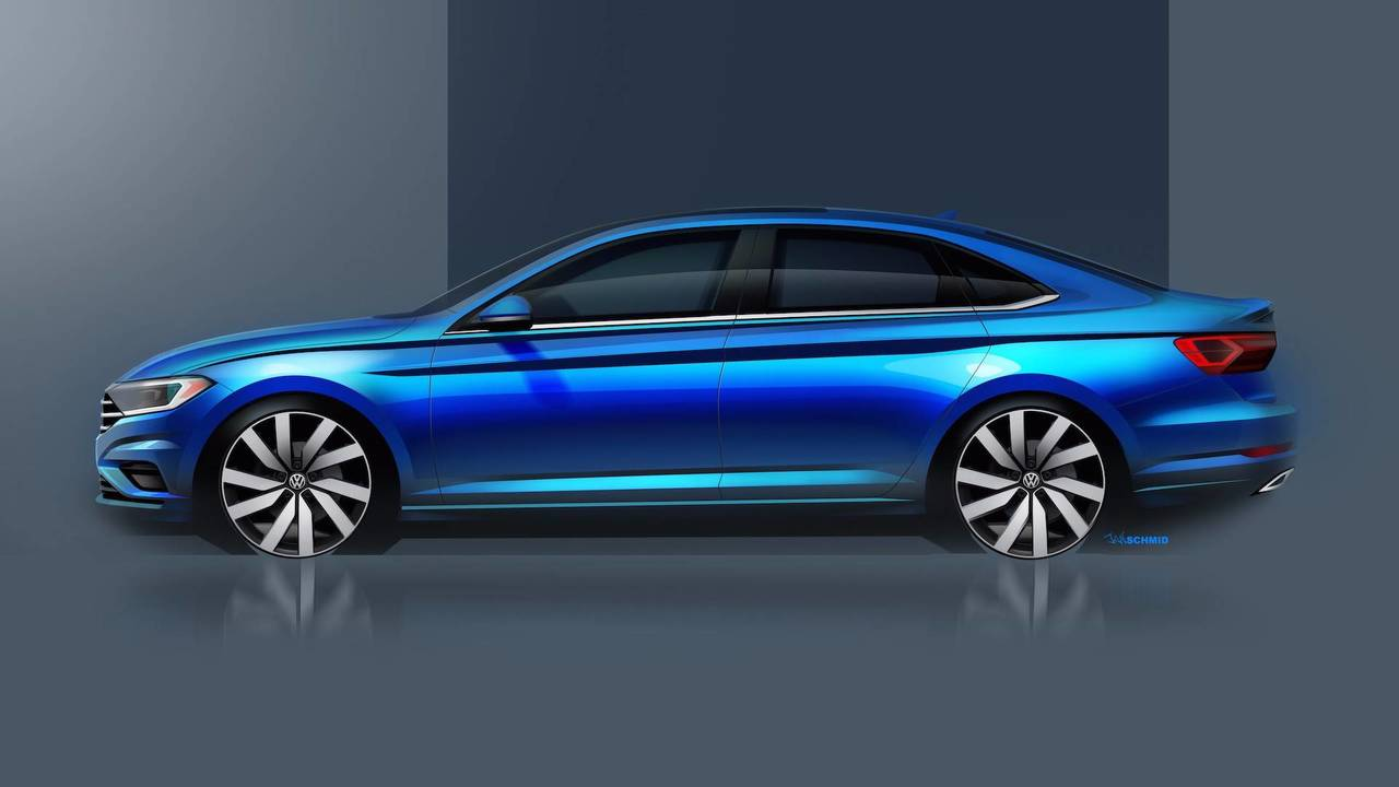 2019 VW Jetta Sketches