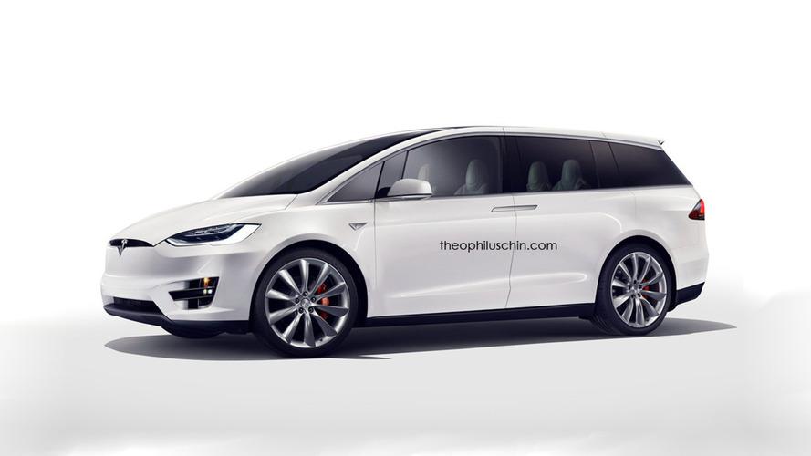 Tesla Model M - Premières images du monospace