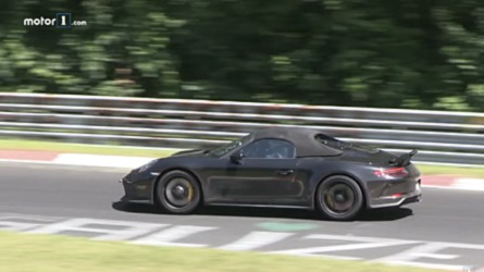 Porsche 911 Speedster, video spia al Nurburgring