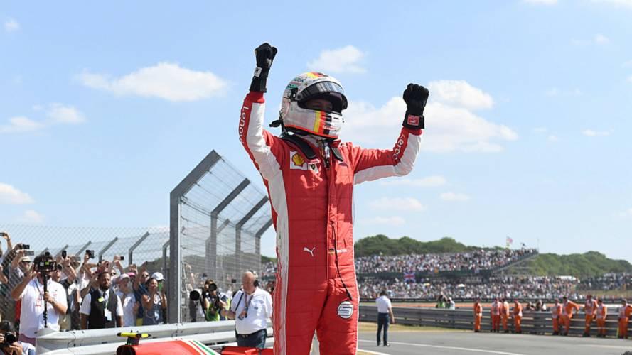 BritishGP: Vettel wins, Hamilton second despite Raikkonen clash