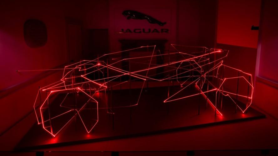 Jaguar laser display headlines London design show