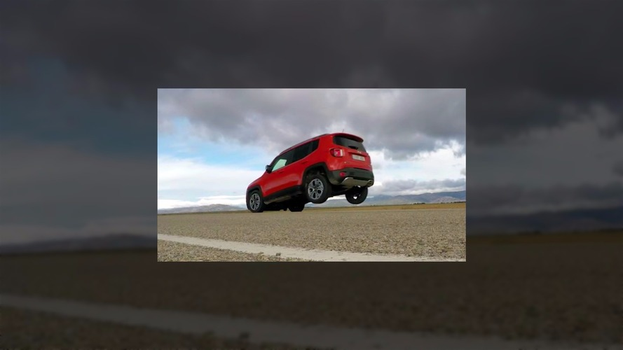 Jeep Renegade lifts rear wheels with malfunctioning brakes