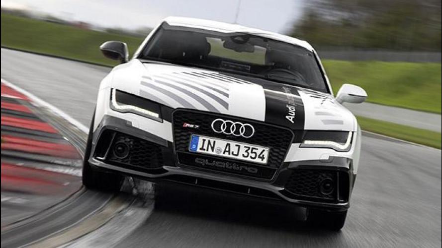 Audi RS 7, in pista senza pilota [VIDEO]