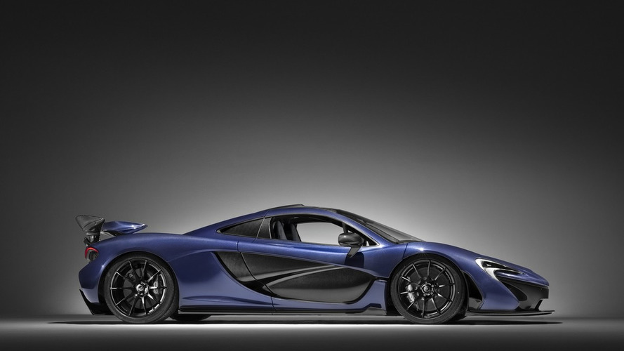 McLaren P1 with exposed carbon fiber body