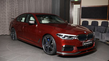 BMW M550i xDrive Aventurine Red with AC Schnitzer body kit
