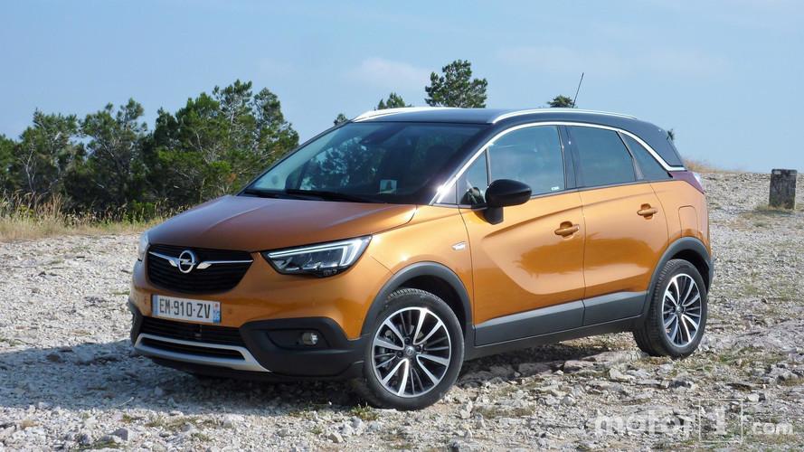 Bon départ commercial pour l'Opel Crossland X