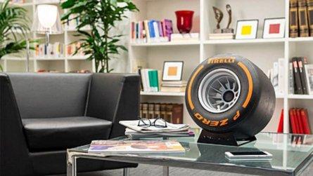Des enceintes en forme de pneus de Formule 1 !
