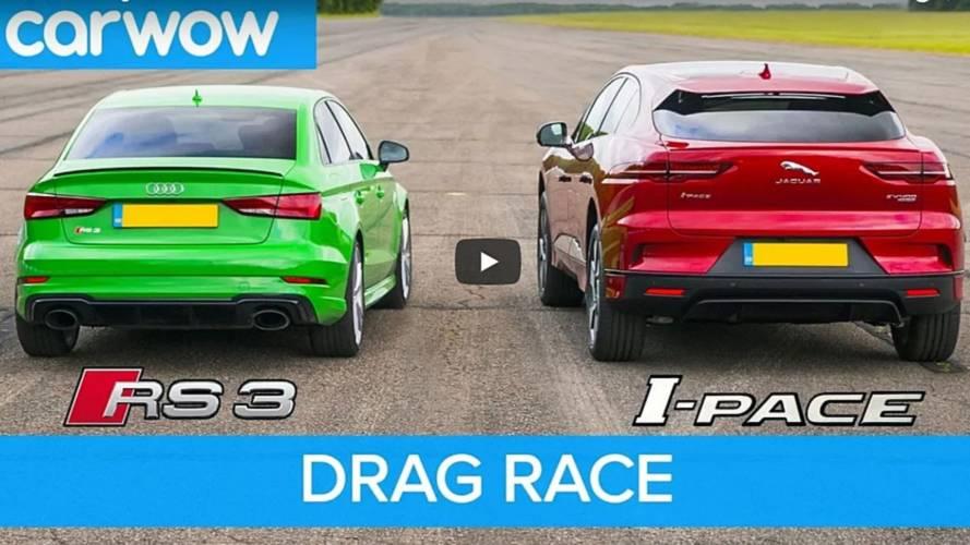 VIDÉO - L'Audi RS 3 écrase le Jaguar I-Pace