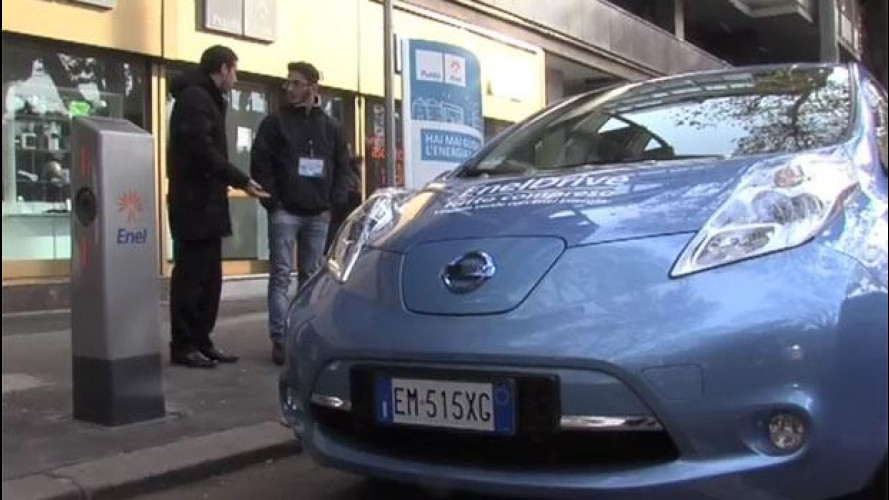 Renault Twizy e Nissan Leaf sono in prova a Roma