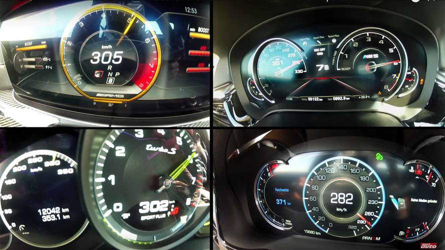 See A BMW M5, E63 S, Panamera S E-Hybrid, And CTS-V Race To 186 MPH