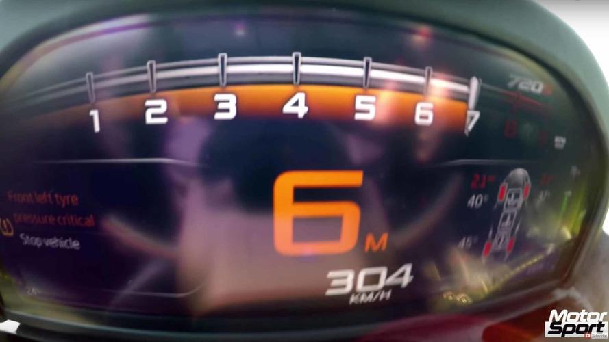 McLaren 720S'in 304 km/s hızına kolayca ulaşmasını izleyin
