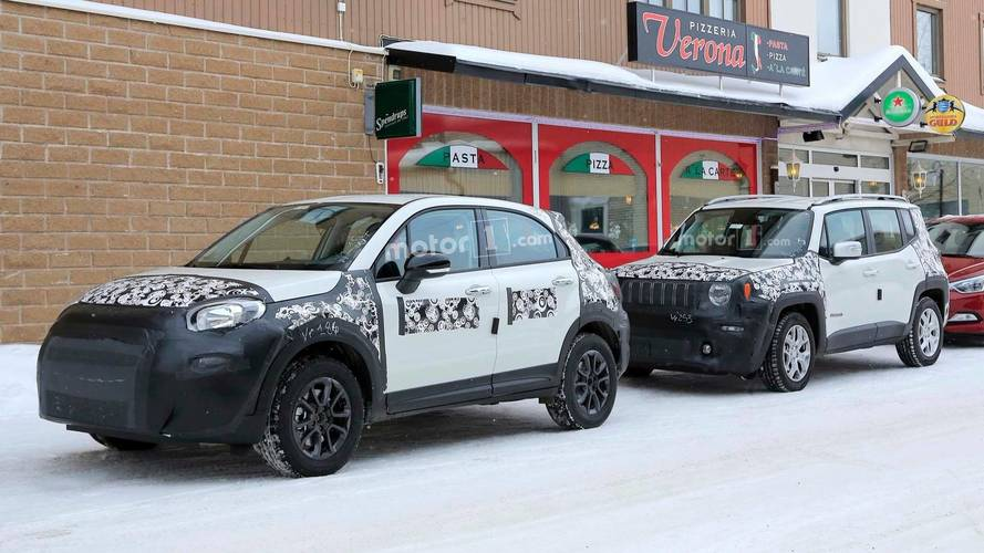 Flagra - Negado pro Brasil, Fiat 500X reestilizado se disfarça de Jeep