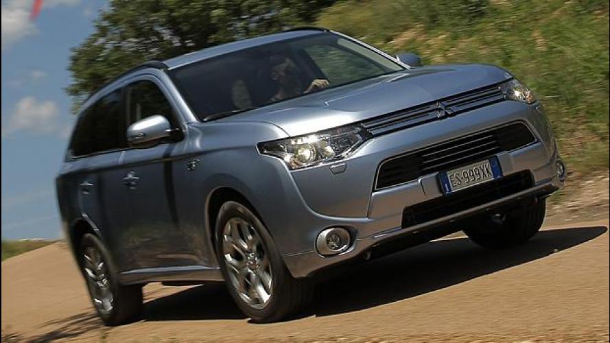 Mitsubishi Outlander PHEV, il primo della gamma ibrida