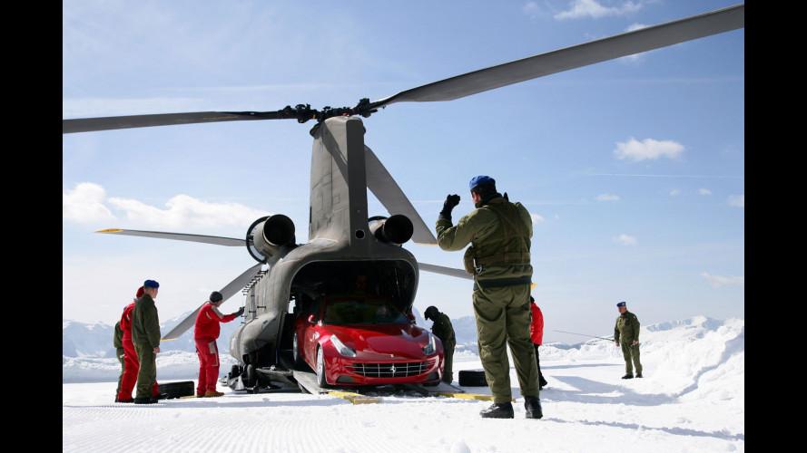 La Ferrari FF sul ghiaccio con Markku Alen