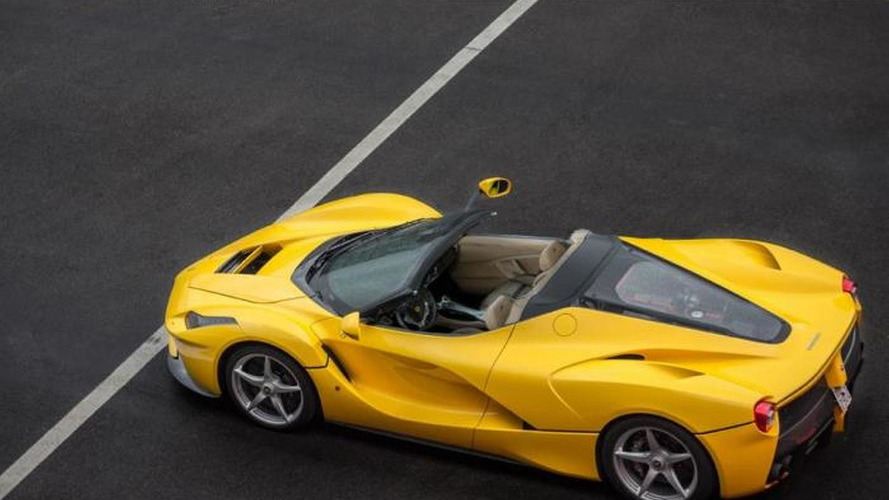 LaFerrari Spider shown during private event?