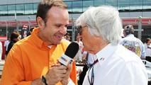 Rubens Barrichello with Bernie Ecclestone 30.06.2013 British Grand Prix