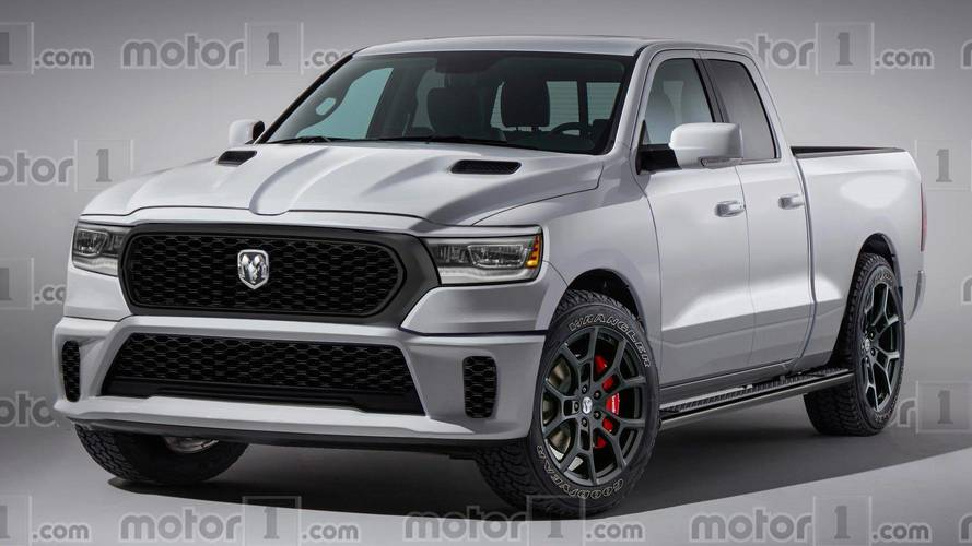 Ram 1500 Rendered As Muscle Truck With Hellcat V8 Power