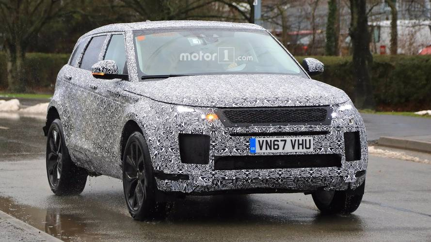 2019 Range Rover Evoque Spied Hiding Most Of Its Production Body