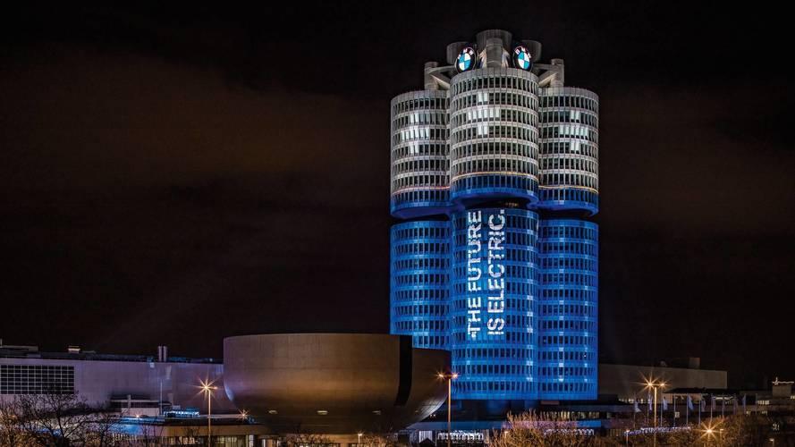 BMW genel merkezi, elektrikli otomobil satışlarını böyle kutladı