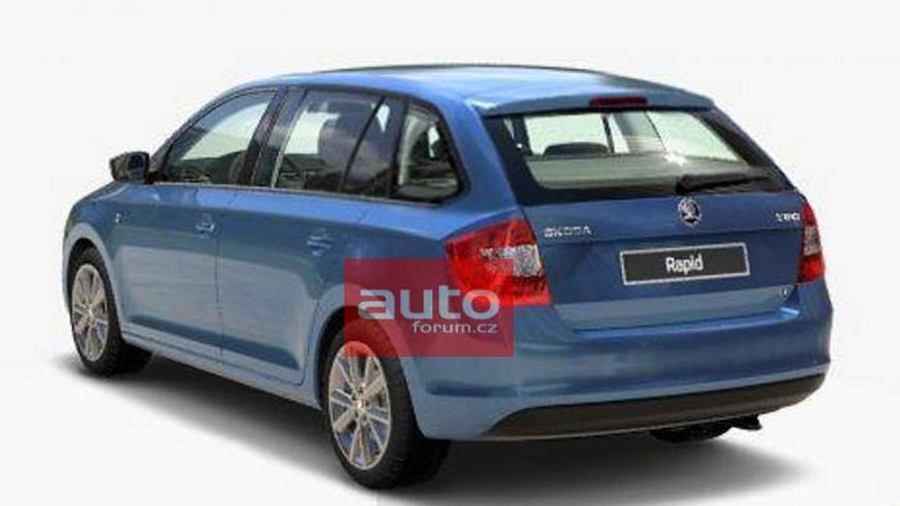 2014 Skoda Rapid Spaceback / Combi leaked photo 05.6.2013