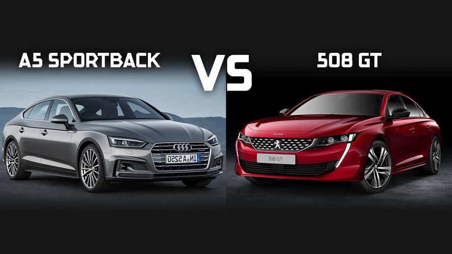 Peugeot 508 2018 vs. Audi A5 Sportback: ¿quién será el vencedor?