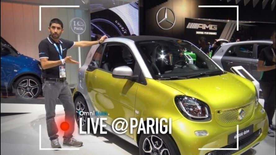 Salone di Parigi, la smart elettrica ora è anche Cabrio e Forfour [VIDEO]