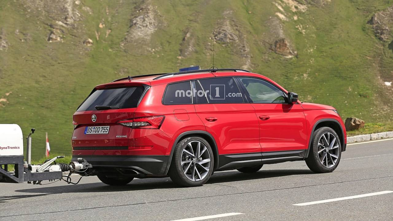 2019 skoda kodiaq rs spy photo photos. Black Bedroom Furniture Sets. Home Design Ideas