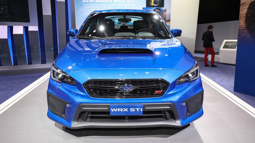 2018 Subaru WRX ve STI yeni yüzleriyle Detroit'te boy gösteriyor