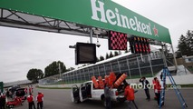 Heineken branding on the circuit