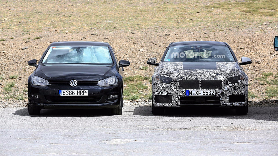 2019 BMW 1 Series Spied With Volkswagen Golf