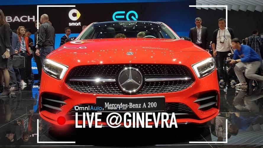 Nuova Mercedes Classe A, eccola vista dal vivo al Salone di Ginevra