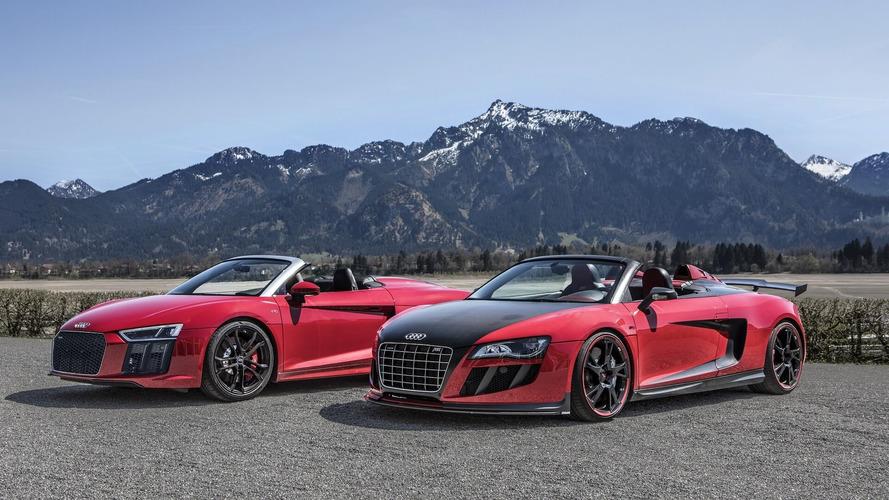 Audi R8 RWS ile R8 GT S ABT, İsviçre Alpleri'nde