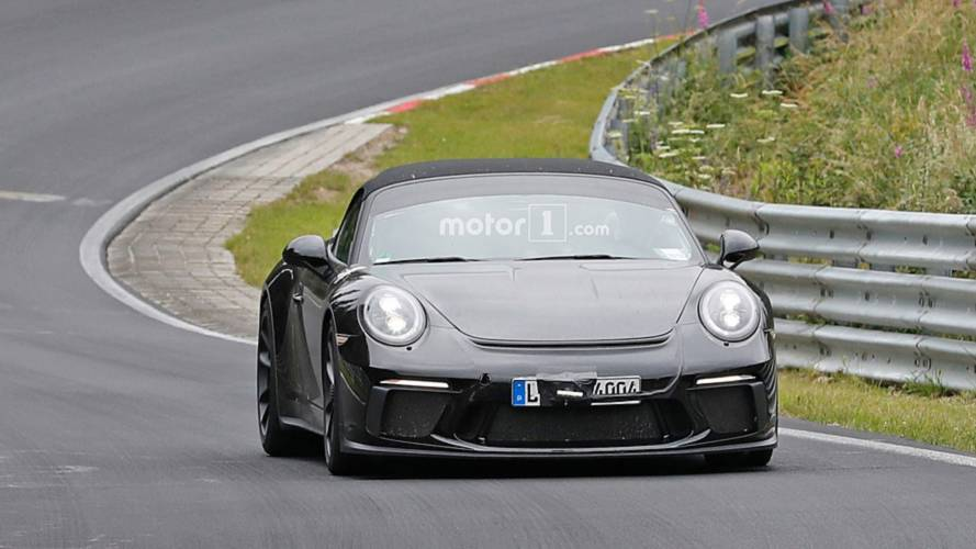 Porsche 911 Speedster Uncovered Spy Photos