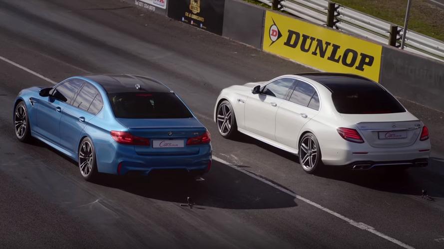 BMW M5 ile Mercedes AMG E63 S'in drag yarışları bitmek bilmiyor