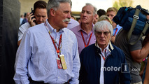 (L to R): Chase Carey, Formula One Group Chairman with Bernie Ecclestone