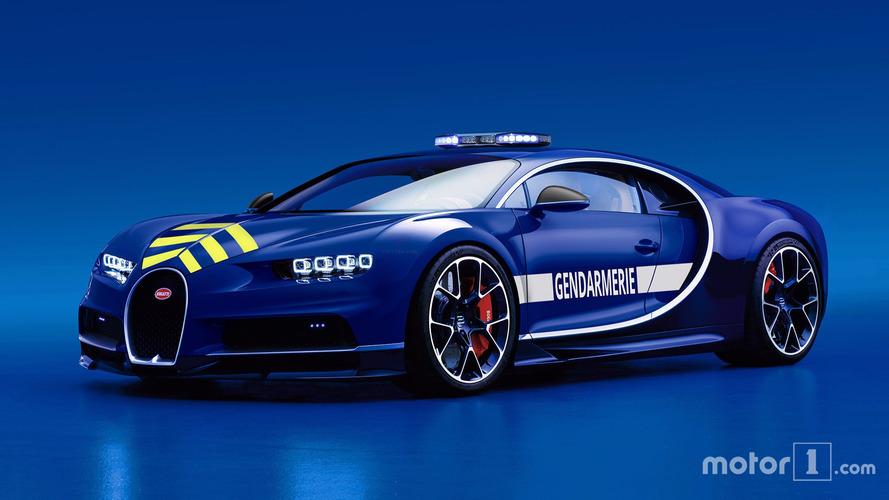 Fransız polisine Bugatti Chiron hediye edildi