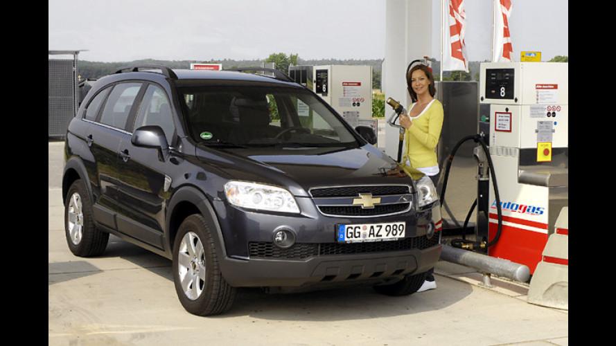 Der Umwelt zuliebe: Chevrolet Captiva auch mit Autogas