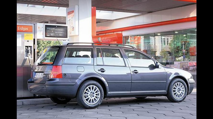 VW Golf Variant Bi Fuel: Viel Geld sparen mit Erdgas