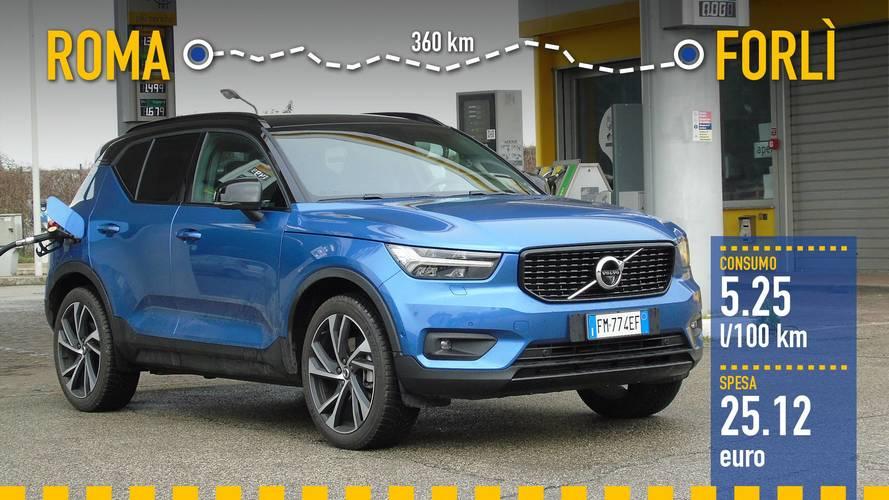Volvo XC40, la prova dei consumi reali