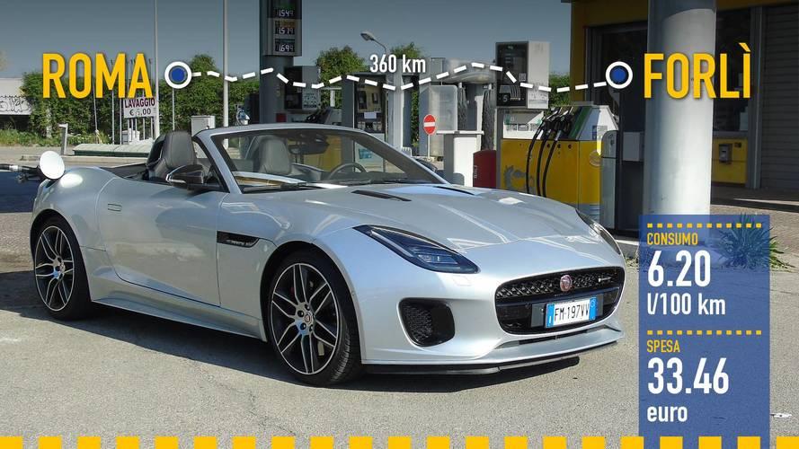 Jaguar F-Type Convertibile, la prova dei consumi reali