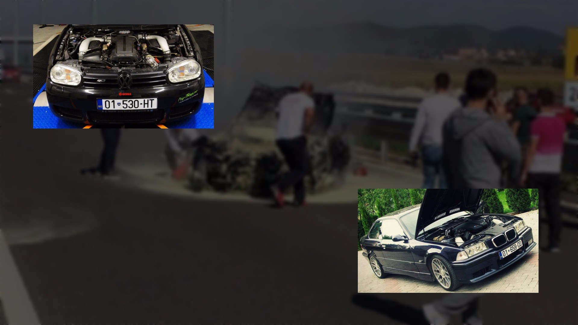 V10-powered BMW M3 and VW Golf race on freeway, doesn\'t end well